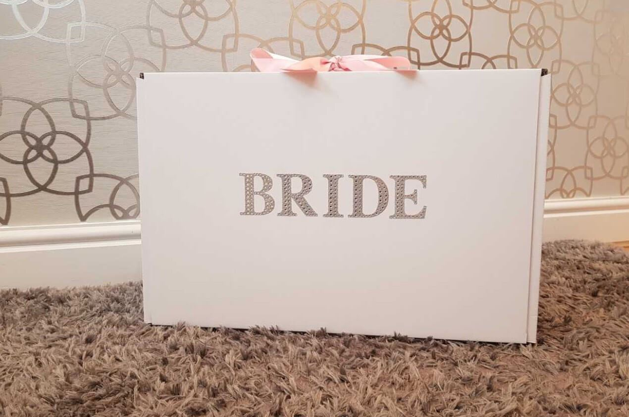 Bride Bag with Cleaned Wedding Dress